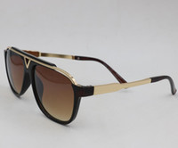 Moda uomo donna occhiali da sole 0937 piastra quadrata in metallo telaio combinazione top uv400 sfumature gafas de sol marchio metallo sunglass uv400 all'ingrosso