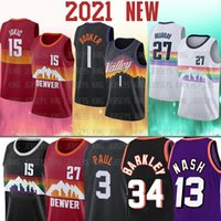 1 Devin 3 Booker Chris Paul Steve 13 Nash 15 Nikola Jamal Jokic Murray Jersey maglie di baskey