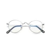 2021 Novos Óculos Retro Mulheres Metal Ultralight Glassesframes Dos Homens Gold Round Eyewear Frames WD1702 N41J