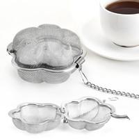 Sıcak Yeni Paslanmaz Çelik Çay Süzgeci Kilitleme Baharat Örgü Demlik Çay Tepesi Filtre Çaydanlık Kalp Şekli Çay Demlik Deniz Nakliye için ZZC4570