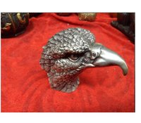 Chinese ancient vivid engraving, sculpture craft exquisite craftsmanship silver statue of the eagle to make a big pictur.