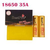 Аутентичные BUSTFIRE BMR 18650 батарея 35A 3500mAh Желтый цвет аккумулятор литий Vape MOD батарея 35A DHL