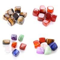 Cristal Natural Chakra Stone 7pcs Set Natural Stones Palm Reiki Cura Cristais Pedras Gemstones Casa Decoração Acessórios 94 G2