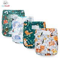 EEZKOALA Neue XL-Größenwindel Waschbare Umweltfreundliche Stoffwindel Justierbare Windel Nappy Wiederverwendbare Tuch Windeln Fit2-5 Jahre Baby 201119