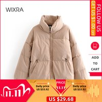 Wixra Women's Jacket New Fashion Trendy Parka Overcoat Solid Warm Outerwear and Coats Winter Ladies Streetwear Casual Clothing 201106