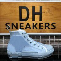 En Kaliteli B 23 Yüksek Düşük Üst Eğik Arı Erkek Kadın Tasarımcılar Ayakkabı Moda Çiftler Teknik Deri Açık Platformu Rahat Ayakkabılar