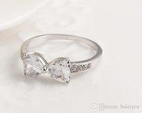 Anéis de casamento atacado de moda coreana Zirconia strass CZ Anéis Coração australianos diamantes de cristal anéis