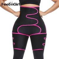FeelinGirl neopreno delgado del muslo de la pierna Trimmer Shapers cintura de la correa Trainer Sweat Fajas quema de grasas Comprimir la correa