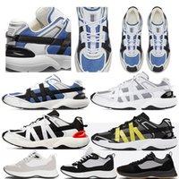 2021 con la caja Mejor B25 Oblique Runner Sneaker Men Platform Shoes Designers Black White Suede Cuero Entrenadores de cuero de malla Zapatos casuales de encaje