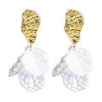 Blume Blütenblatt Quaste Ohrringe Unregelmäßiger Charme Earrop Frauen Weibliche Mode Ohr Anhänger Schmuck Zubehör Partyurlaub Geschenke 2 2SFB N2