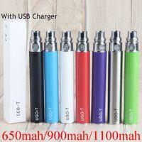 Vape Pen preriscaldamento Batteria UGO-T 1100mAh vaporizzatore 510 900mAh 650mAh batterie ricaricabili inferiore Carica con Micro USB Cable