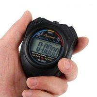 Таймеры Профессиональный портативный ЖК-хронограф Спорт на открытом воздухе Остановка Остановки Часы 2 канала Цифровой электронный Timer1