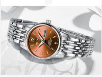 Bijoux wlisth femmes regarder tungstène acier femmes montres amoureux cadeau rose or chinois-français calendrier quartz horloge horloge watch étanche