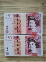 Geld Münze Vereinigtes Königreich Realistische Most Money Euro Movie Pfund Requisiten Props Pound Beste Prop 50 bar Dollar Geld 100pcs / Pack 05 dfqhl