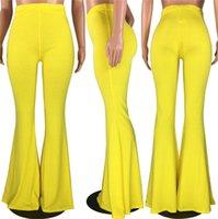 Moda Plus Size Kadınlar Tam Pantolon Şişman kadın Kıyafet Sıcak Stil Şeker Renk Günlük Sıkı tertibatlı Büyük Flared Pantolon Tayt Bootcut F92913