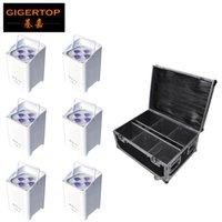 TIPTOP Смарт пар света 4 х 6 Вт RGBWA УФ беспроводной батареи Led Uplight LED Bar Uplight Пульт дистанционного управления 6XLOT