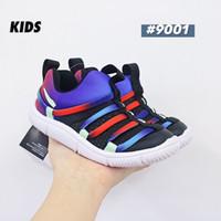 Top 2020 de zapatos principiante niños pequeños niños Novato BR del niño de los zapatos corrientes NOVICIO PS Negro Azul infantil Sport zapatillas para Chaussures muchacha del muchacho