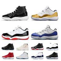 2021 homens s shoes de basquete novo jumpman concord azul 11 manbasketballshoes 11s criados 25º aniversário ganhar como espacial jam treinadores sneakers