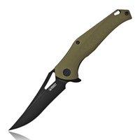 Kubey KU150 - Black Panther faca dobrável D2 Lâmina G10 Bearing Handle Bola clipe de bolso caça Survival EDC Facas Titanium