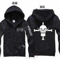 Anime One piece Weißer Bart Puma D. Ace T-Shirt Cosplay Kostüme Hoodie der Männer 100% Cotton Print Coat hohe Qulity 201113