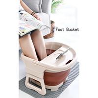 Pied de bain pliable Seau à pied Seau plaine Moussage Massage Bucket Bucket Sauna Baignoire Basine Réduire JLLSFR