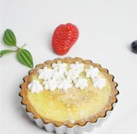 البيض تارت العفن قوالب الخبز القابل للإزالة أسفل فضفاض غير عصا جولة كيشي خبز المطبخ reusable مصغرة tart tins أدوات الخبز YYB3945