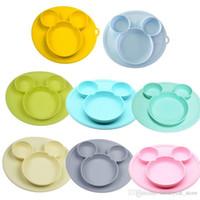 Bebê placa silicone Crianças bacia pratos placas bebê de alimentação silicone tigela de gel de sílica bebê crianças talheres