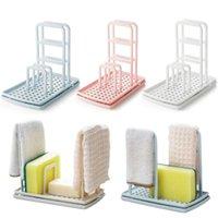 طوي طاولة مطبخ خرقة الرف غسل الصحون استنزاف المياه خالية من الحلبة الإسفنج الصابون الجرف التخزين متعدد الوظائف X9X15103 201022