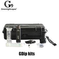 Autêntica G9 GreenLightVapes GDIP Kit Cera Dap Caneta 1000mAh Bateria e Superaquecimento Proteção com 2 Pontas VAPER W2 W3 100% Original