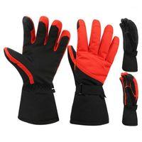 1 paire Gants chauds chauds de ski Gants de ski imperméables antidérapant coupe-vent de la neige thermique camping randonnée cyclisme1