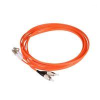 Équipement à fibre optique 50 paire Cordon de patch FC LC PC UPC Multimode MM1 62.5 / 125 1 3 5 10 20 100M Mètres FTTH Wholesale Custom Made1