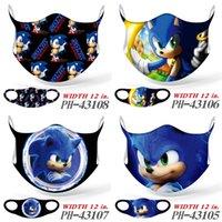 Designer desenhos animados Sonic Super voz mouse máscara 3d cartão de impressão universal máscaras para homens adultos e mulheres personalizadas máscaras criativas