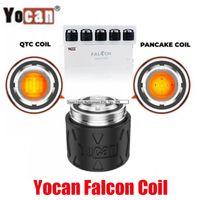Original Yocan Falcon Head Head QTC Quatz Triple Pancake Triple Pancake Bobines d'atomiseur Noyau d'atomiseur pour concentré de cire Kit de périphérique DAB 100% authentique