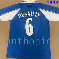 Top 1997/1998 Jerseys de football rétro Desailles Lampardie Drogba Chemise de football Terry Classic 98 99 Chemise de football Maillot de Foot Taille S-XXL