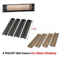 Тактические 4шт / набор Handguard Panel ребристые 20мм Picatinny / Weaver Рельсовые Чехлы для KAC аксессуаров Бесплатная доставка