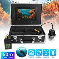 9 inç DVR 50 M Sualtı Video Kamera IP68 Su Geçirmez 20 Lambalar 360 Derece Dönen Dome Panoramik 8G Hafıza Kartı ile 100-240v1