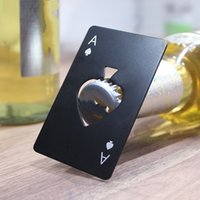 카드 모양 병 오프너 독창성 스페이드 맥주 스테인레스 스틸 병 오프너 홈 가구 공구 뜨거운 판매 0 95QN F2