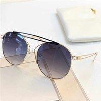 188 Nuovi occhiali da sole di moda Audrey Fashion Donne Telaio Flip Top Oversized Top PC Multi-Colour Lens Metallo Telaio rotondo Materiale per inviare