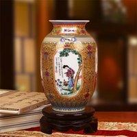 Jingdezhen seramik vazo emaye dört antik güzellikler dört vazo moda ev dekorasyon LJ201209