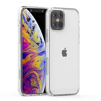 Cajas para teléfono para iPhone 12 11 Pro Max 7/8 Plus XR XS Galaxy A12 A52 A72 A32 5G 4G Transparente Borrar 1.5mm TPU Acrílico A