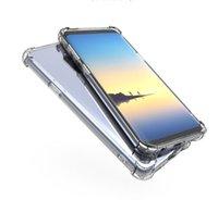 Şeffaf Darbeye Akrilik PC Geri TPU Tampon Samsung S9 S9 Artı S7, S7 Kenar S8 Not 8 A8 J7 J5 LG G5 Nokia için Hibrid Kılıf