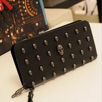 Man leather bag High Quality Skull Wallet Personality Clutch...