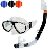 Máscaras de mergulho Natação Snorkel Set Adulto Kids Mask Máscara Óculos de Óculos de Esportes de Água Para Crianças Adultos1