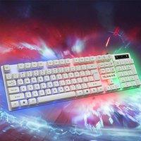 LEORY 104 Tuşlar Kablolu Oyun Klavye ve Fare Seti Renkli LED Aydınlatmalı USB Oyun Klavye Fare Dizüstü PC Oyuncular Için
