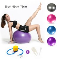 65cm Yoga-Kugel Fitness Ball Sport Pilates Entbindungs ​​Fitball-Trainings-Workout Massage Ball Gymnastikball 75cm 45cm Mit Pump