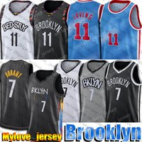 Kevin 7 Durant Jersey Kyrie 11 Basketball Irving Jerseys Brooklyns Jersey 2021 Blue Jean-Michel Basquiat City Jersey