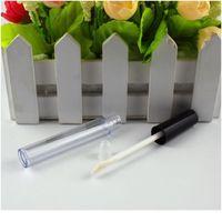 Alta qualidade 50 pçs / lote l 10 ml plástico labelo labelo tubo pequeno batom tubo com amostra interna à prova de vazamento cosmético conta jllrqs