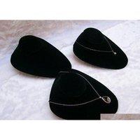 Shipping 3Pcs Black Velvet White Leather Necklace Torso Shelf Models Pendant Holder Jewelry Display Stand Mannequin Bust Kbaz6