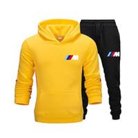 Neue Herbst- und Winter-Men's Sets Hoodies + Hosen BMW Sportanzüge Lässige Sweatshirts Trainingsanzug 2020 Marke Sportswear Q0125