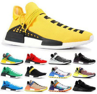 بيع الجنس البشري NMDS Pharrell Williams الرجال النساء المصممين الرياضية أحذية قبالة أسود أبيض رمادي primeknit pk عداء XR1 R1 R2 أحذية رياضة